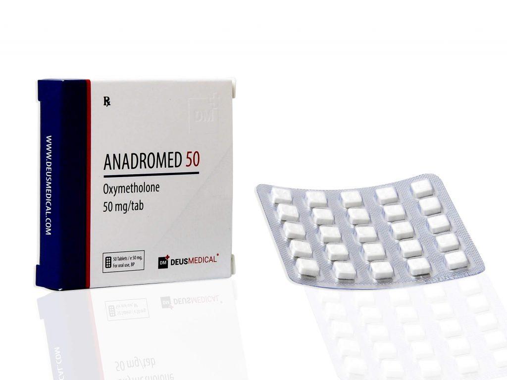 ANADROMED 50 (Oxymetholone) - 50tabs of 50mg - DEUS