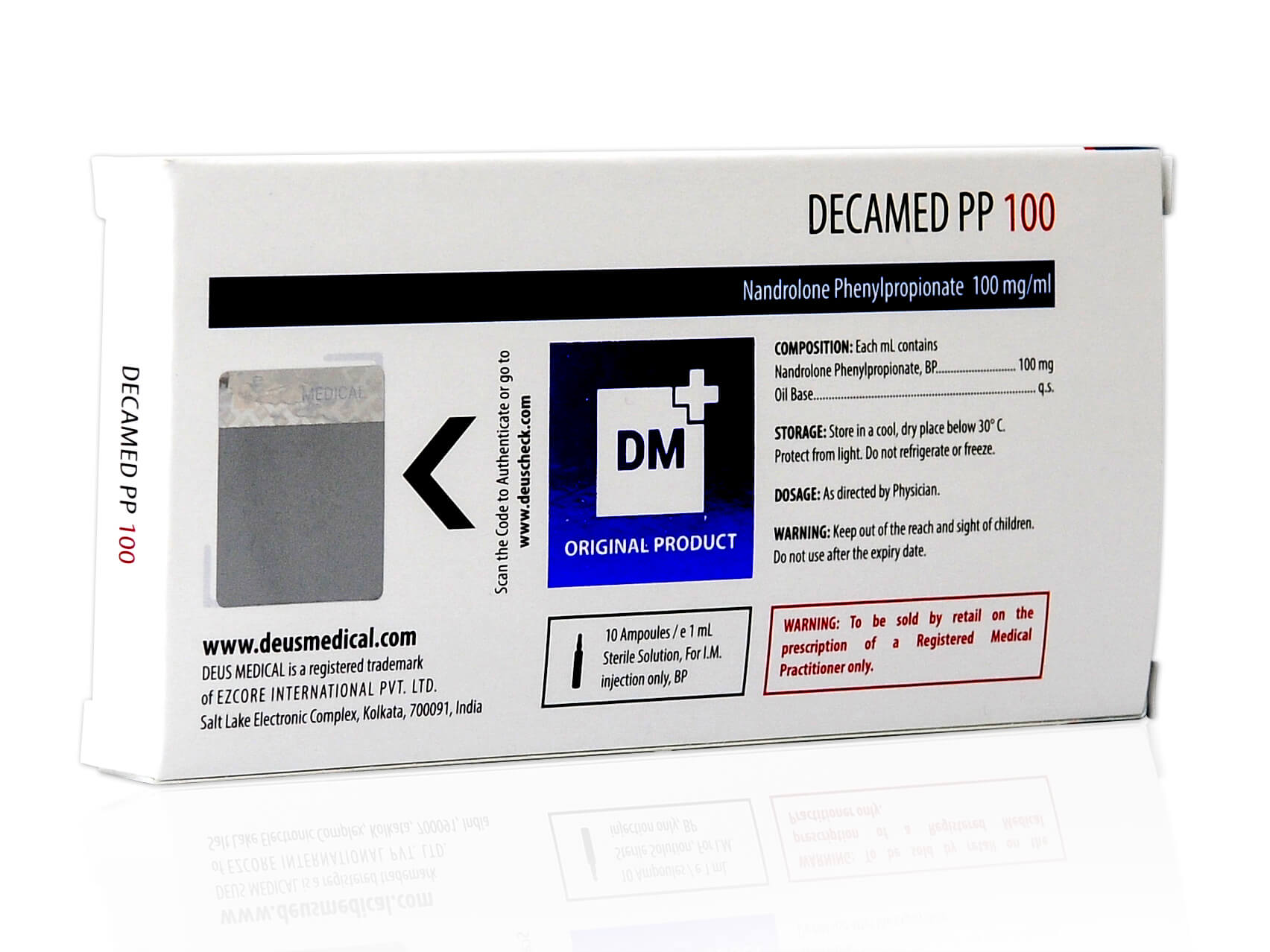 DECAMED PP 100 (Nandrolone Phenylpropionate) - 10amps of